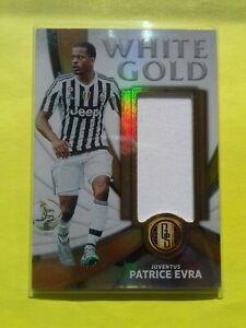 Patrice Evra Panini  Gold Standard Soccer Juventus WHITE GOLD Jersey 41 /99