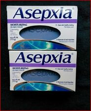 New In Box 2 Bars of Asepxia Moisturizing Cleansing Bar Soap 4 oz Skin Cleansers