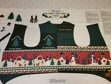 """New listing Peace in the Country Vest Fabric Quilt Panel Cotton by Springs Ind. 36"""" X 60"""""""