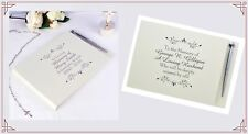 Personalised memorial guest book is a perfect way to remember a loved one.