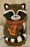 Earthenware Raccoon Cookie Jar Mint Condition Really Cute!