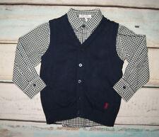 Jasper Conran BNWT Boys Shirt & Tank Top Two Piece Outfit Set Age 2-3 Years
