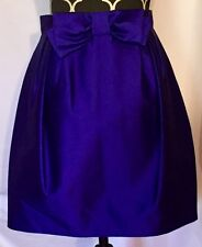 Andrew GN Electric Blue Bubble Tulip Bow Fully Lined 100% Silk Skirt sz 38 RARE!