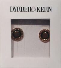 Dyrberg & Kern Certified Rose Gold Plated Enamel Stud Earrings Gift Boxed