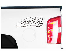 4x4 Truck Bed Decals, Black (Set) for Chevrolet Silverado and GMC Sierra