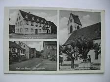 AK Weil am Rhein 1940 Gasthaus Hauptstraße Kirche