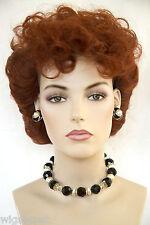 Medium Wavy Curly Red Costume Wigs