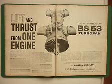 12/1960 PUB BRISTOL SIDDELEY ENGINES BS 53 TURBOFAN VTOL STOL ORIGINAL AD