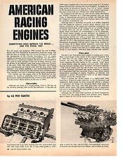 1966 AMERICAN RACING ENGINES  ~  GREAT ORIGINAL 2-PAGE ARTICLE