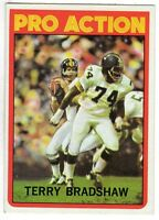 1972 Topps Football card #120 Terry Bradshaw Pro Action, Pittsburgh Steelers EX