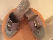 $150 Cole Haan Nike Air womens sandals slides sz 8.5 M brown bronze