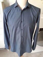 Men's Hugo Boss Slim Fit Dark Blue Shirt Size Large