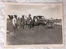 1950 Idaho Farm Photo 1947 GMC Work Truck Photograph Irrigation Farming 4 Men