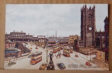 Postcard  Cathedral And Exchange station Manchester Colour Card