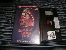 CASTLE OF THE WALKING DEAD OOP VHS REGAL VIDEO CLAMSHELL CHRISTOPHER LEE