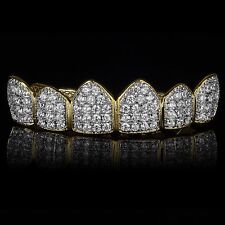 18K Gold & Silver Plated High Quality CZ Top GRILLZ Mouth Teeth Grills