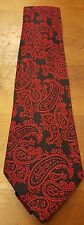 "Vintage, Red/Navy Blue, Acetate/Rayon Blend, Paisley, Neck Tie (57"")"