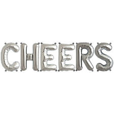 Party Supplies Silver 41cm Foil Letters Balloon 'CHEERS' Birthday Wedding