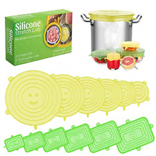 Silicone Stretch Lids, 12 Pack of Silicone Food Covers, BPA Free and Expandable