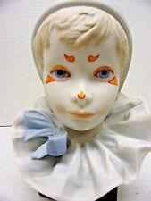 Rare Cybis Porcelain Mime Pierrot Doll Head Bust