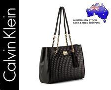 Calvin Klein CK Hastings Pebble Leather Stitch Detail Handbag Bag - Black - NEW!