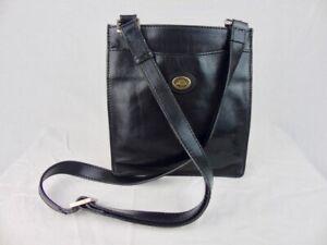 THE BRIDGE classic leather retro bag crossbody black unisex