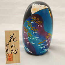 Japanese Kokeshi Doll Authentic Handmade in Japan - Kokoro / Flower Dress