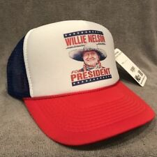 Willie Nelson For President Trucker Hat! Vintage Style Snapback Cap! Red 2282
