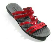 Privo Clarks Women's Red Man Made Patent Slide Wedge Sandal 11 M