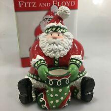 Fitz & Floyd Stocking Stuffers Santa Claus Lidded Box New Ceramic