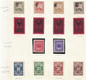 Albania Stamp 1920-1930 Postage Due stamps a group of 3 mint sets with OG
