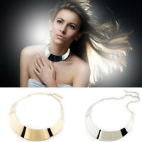Stylish Women Clothing Metal Choker Collar Necklace Bib Torque Torc Chain Gift
