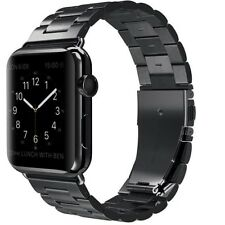 New Stainless Steel Wrist Bracelet Clasp For Apple Watch Band iWatch 42mm Black