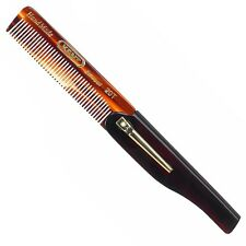 Kent 100mm Folding Pocket Comb With Clip - All Fine 20t