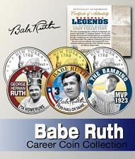 Babe Ruth Carrière Hof NY State quarter 3-coin ensemble
