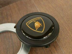 Horn Button fits LAMBORGHINI Badge Fits MOMO RAID Spaco NRG Steering wheel Lambo