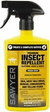 24oz Sawyer Permethrin Clothing Insect Tick Chigger Repellent Trigger Spray Camp