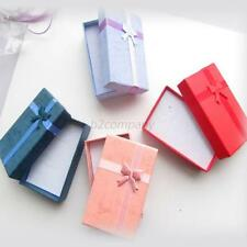 24x Paper Square Package Bow Jewelry Necklace Bracelet Present Gift Box Case NEW