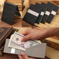 Men's Magic ID Wallet Credit Card Holder Thin Slim PU Leather Money Clip Pocket