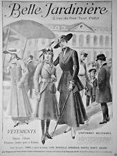 PUBLICITÉ 1915 BELLE JARDINIERE VÊTEMENTS POUR DAMES FILLES HOMMES ET ENFANTS