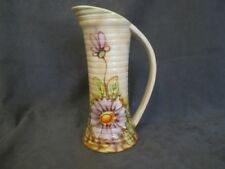 G1  Royal Art Pottery England Handled Pitcher Handpainted Floral