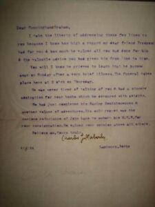 Signed letter 1922 First Ed. BOLIVIA/South America CUNNINGHAME GRAHAME Mountains