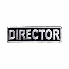 DIRECTOR Officer Embroidered Funny Biker Motorcycle MC Club Vest Patch PAT-0529