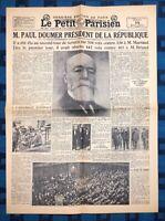 La Une Du Journal Le Petit Parisien 14 Mai 1931 Élection De Paul Doumer