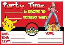 POKEMON PIKACHU KIDS BIRTHDAY PARTY INVITATIONS CHILDRENS INVITES