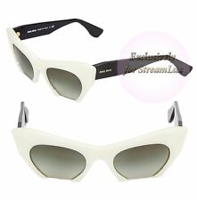 MIU MIU RASOIR Women Sunglasses SMU 10OS 7S3-4M1 Cat Eye Gradient Black White