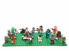 Zombie Battle, Custom Minifigure Set Walking Dead Halloween TWD Horde