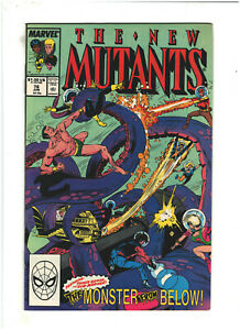 New Mutants #76 VF+ 8.5 Marvel Comics 1989 Namor, Sub-Mariner app.