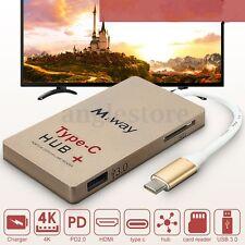 Type-C to 4K HDMI USB 3.0 HUB USB-C Charging Port SD Card Reader Adapter USB 3.1