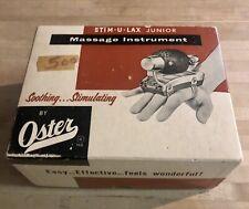 Oster Stim-U-Lax Junior Model M-4 Vintage Massager USA Tested and works